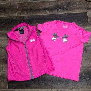Under Armour Bundle Girls Medium Vest & Shirt
